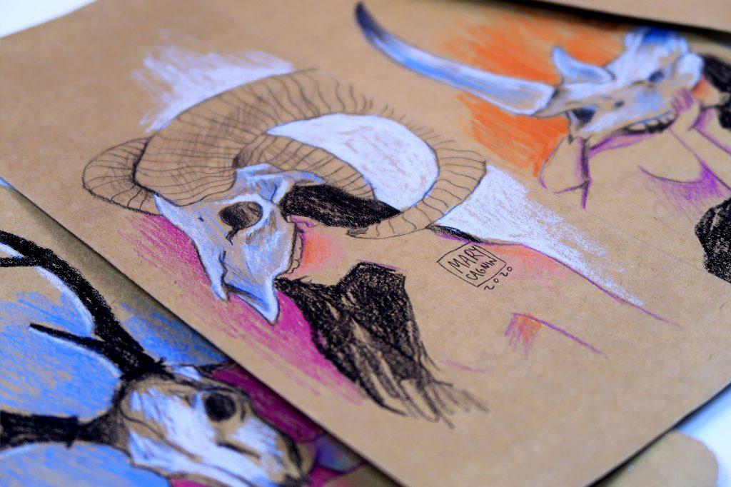 desenhando em embalagens de café